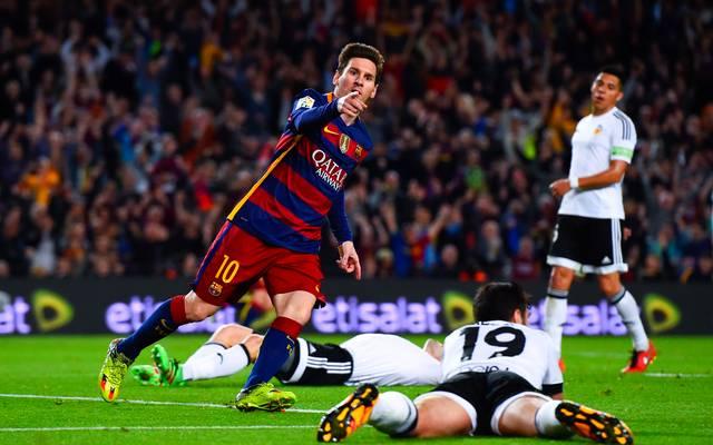 Lionel Messi erzielt gegen Valencia sein 500. Tor