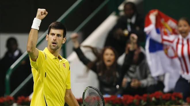 Novak Djokovic steht im Finale von Doha