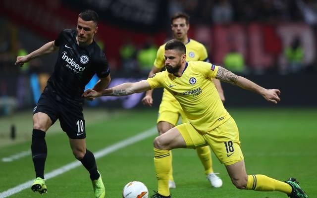 Filip Kostic bereitete die Führung für Eintracht Frankfurt vor