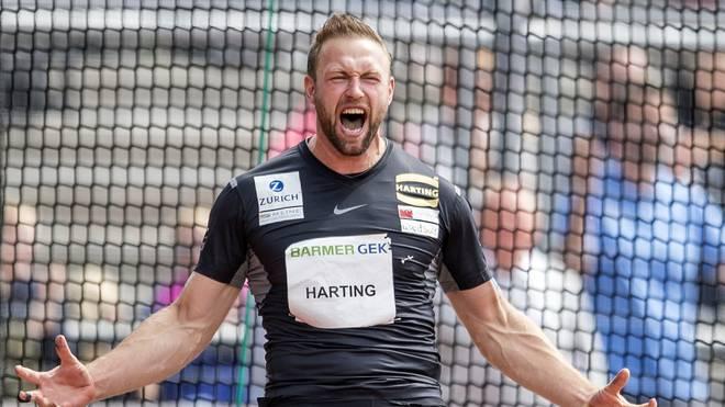 Diskus-Olympiasieger Robert Harting wird am Rande der Europameisterschaft in Berlin eine besondere Ehre zuteil