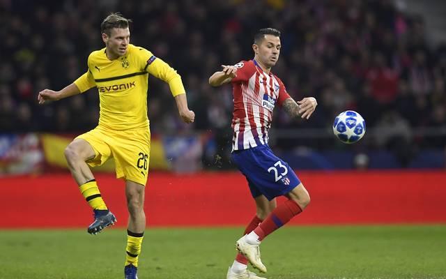 Lukasz Piszczek hatte bei der Niederlage von Borussia Dortmund bei Atletico Madrid einige Probleme