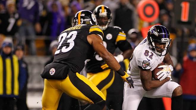 Torrey Smith (r.) und die Baltimore Ravens unterlagen zuletzt in Pittsburgh