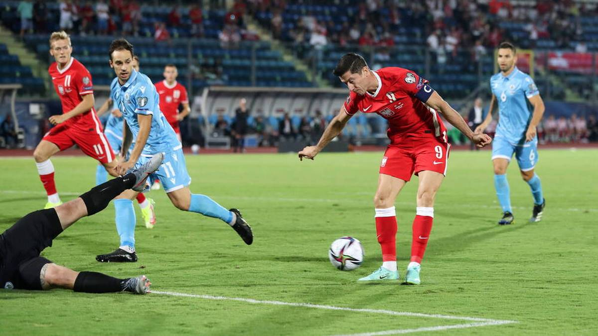 Bayern-Star Robert Lewandowski glänzte in der WM-Qualifikation mit Polens Nationalmannschaft gegen San Marino