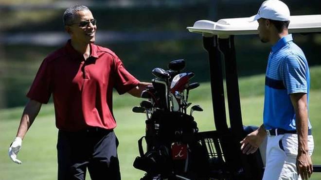 Barack Obama und Steph Curry beim Golf