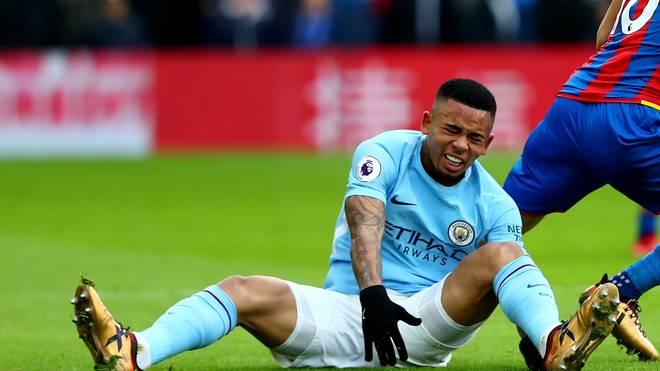 Gabriel Jesus verletzte sich gegen Crystal Palace am Knie