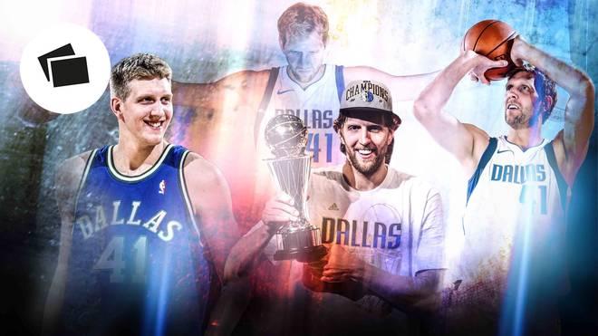 Dirk Nowitzki spielte 21 Jahre in der NBA