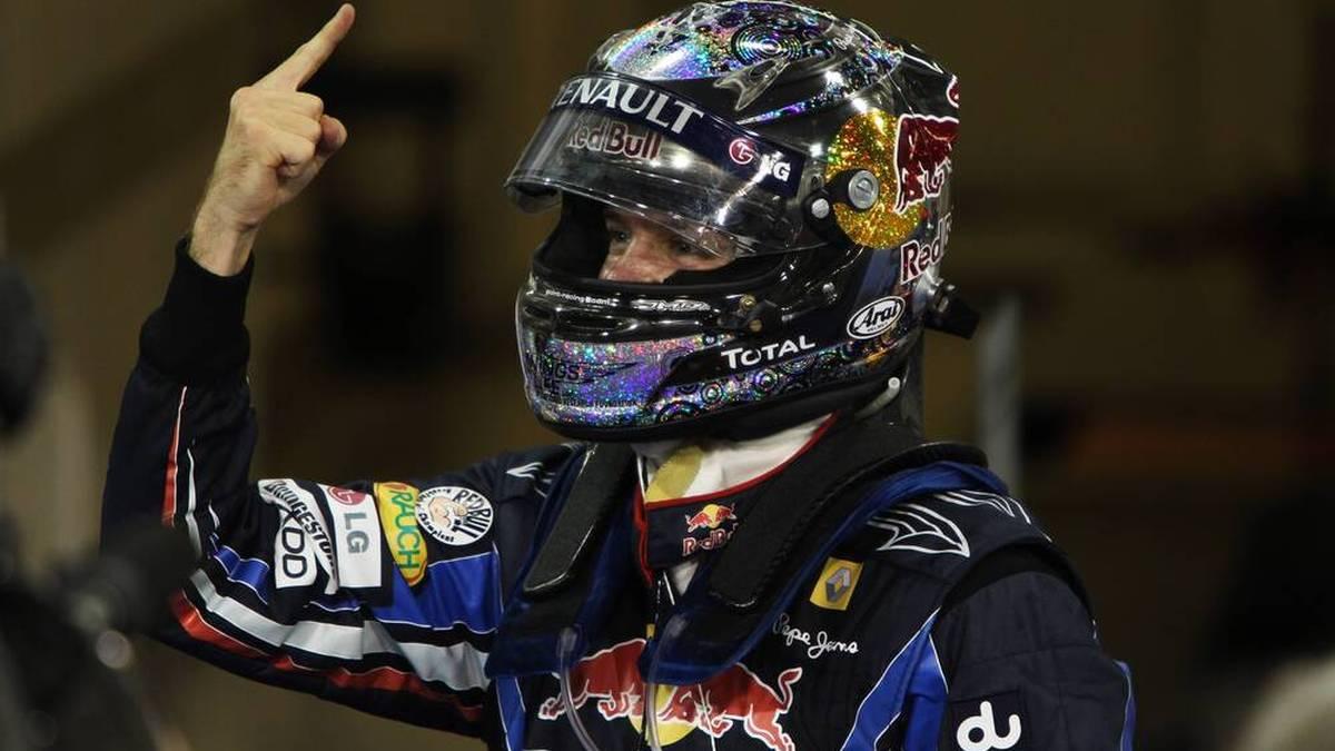 Dieser Finger wurde zum Markenzeichen des viermaligen Weltmeisters Sebastian Vettel