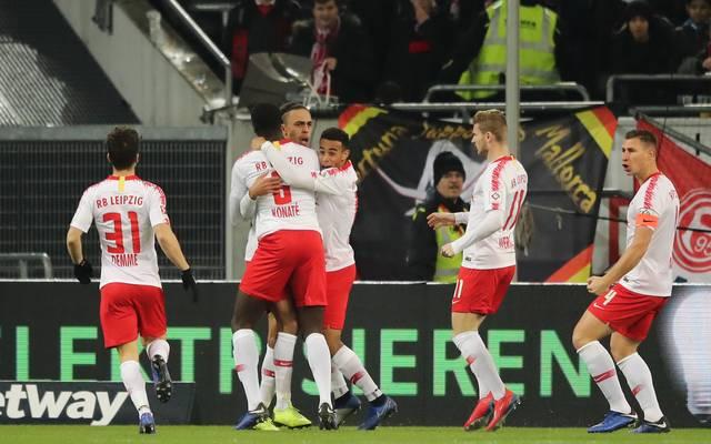 RB Leipzig feiert einen Kantersieg gegen Fortunaa Düsseldorf