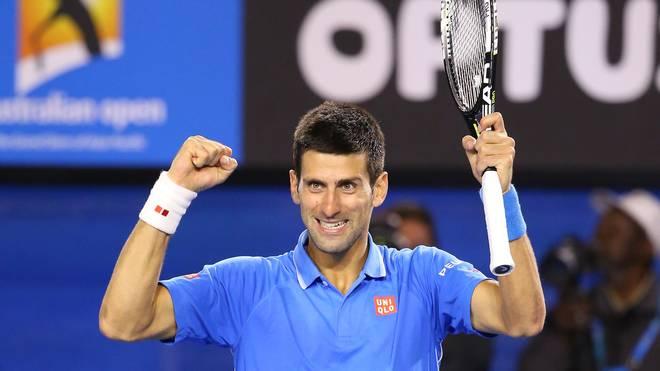 Novak Djokovic jubelt über den Finaleinzug bei den Australian Open
