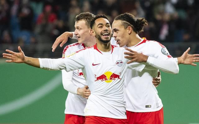 Matheus Cunha erzielte gegen den VfL Wolfsburg das 1:0 für RB Leipzig
