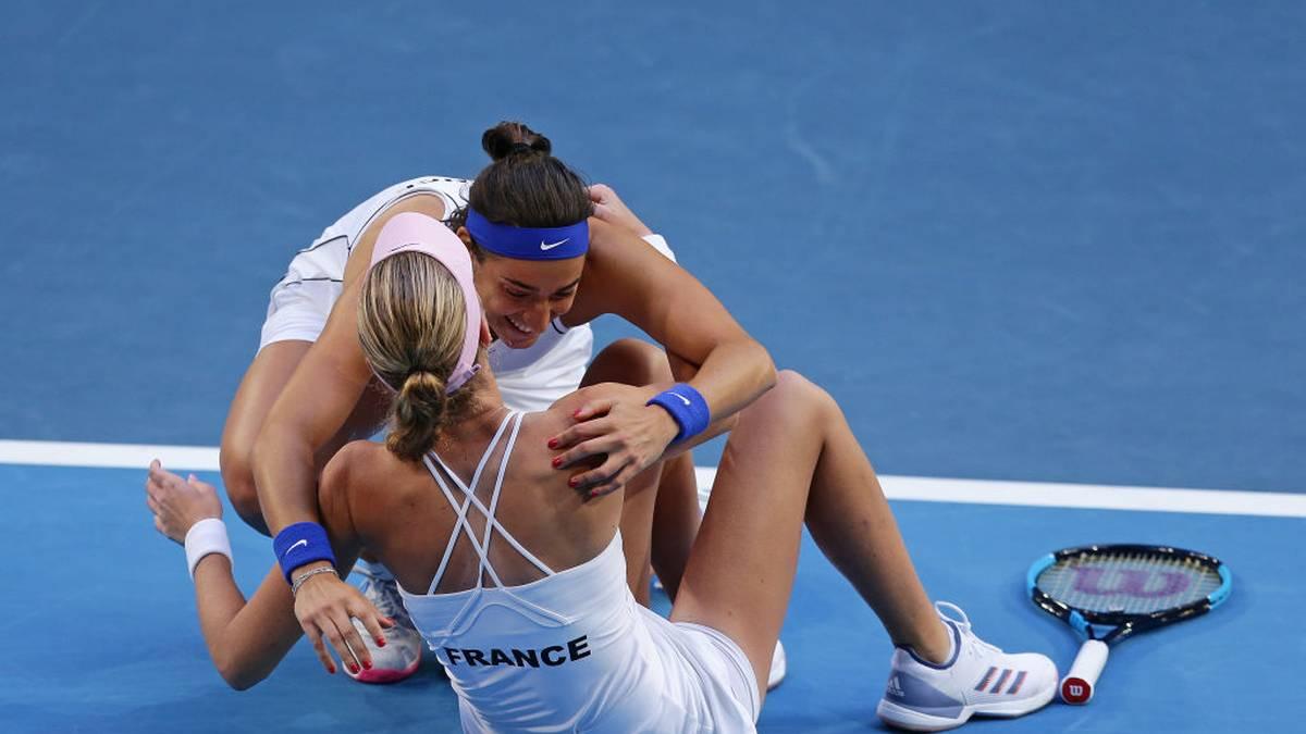 Caroline Garcia und Kristina Mladenovic haben im Fed-Cup-Finale den entscheidenden Punkt erzielt