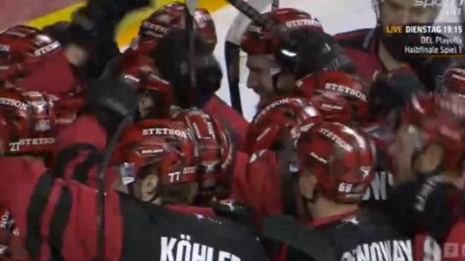 Die Kölner Haie feierten den Einzug in das Playoff-Halbfinale