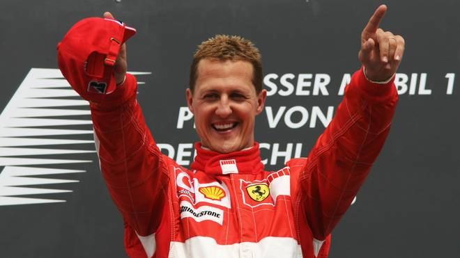 German Ferrari driver Michael Schumacher