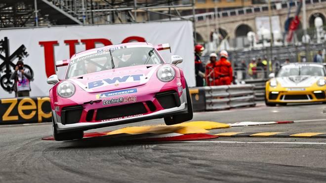Michael Ammermüller wird beim Rennen des Porsche Supercup in Monte-Carlo von der Pole-Position starten.