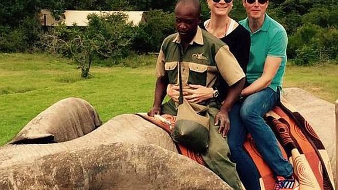 Maria Höfl-Riesch ist begeistert von der Tierwelt Südafrikas.