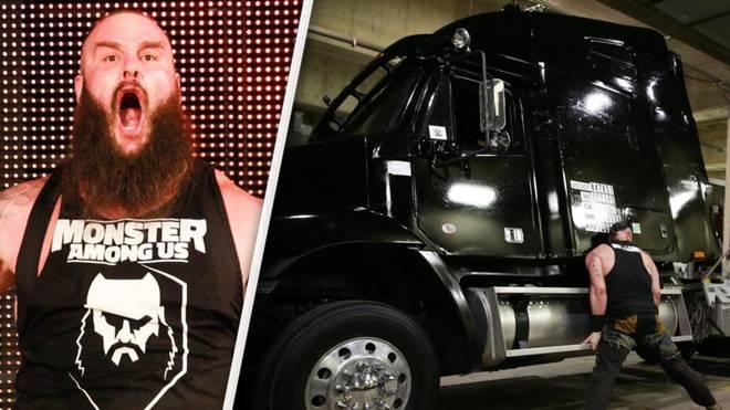 Braun Strowman warf bei WWE Monday Night RAW einen Sattelschlepper um