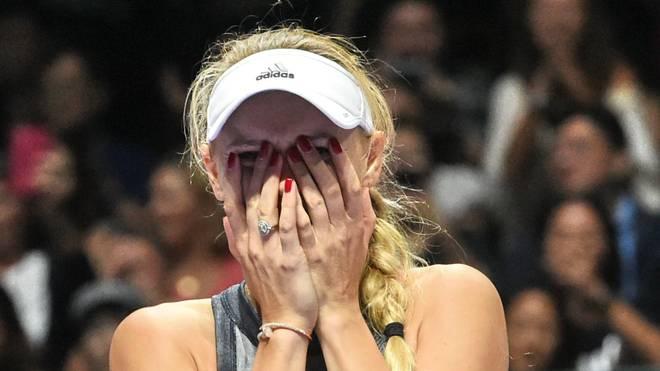 Caroline Wozniacki konnte ihr Glück nach dem Finalsieg kaum fassen