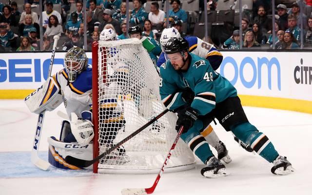 Die San Jose Sharks haben das erste Spiel im Conference-Finale gegen die St. Louis Blues gewonnen