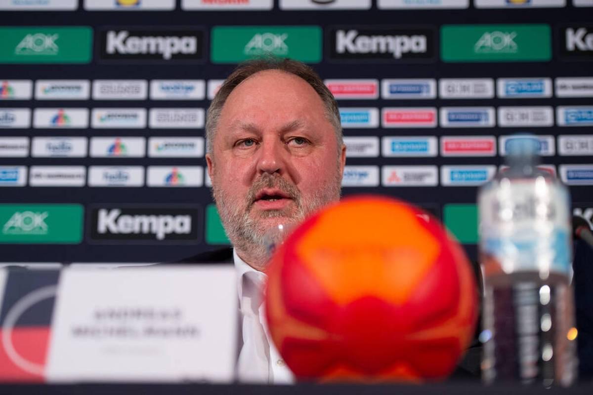 Andreas Michelmann spricht über die Zielsetzungen der Handball-Nationalmannschaft für die nächsten Jahre. Der Präsident  des DHB hat vor allem die Heim-EM im Fokus.