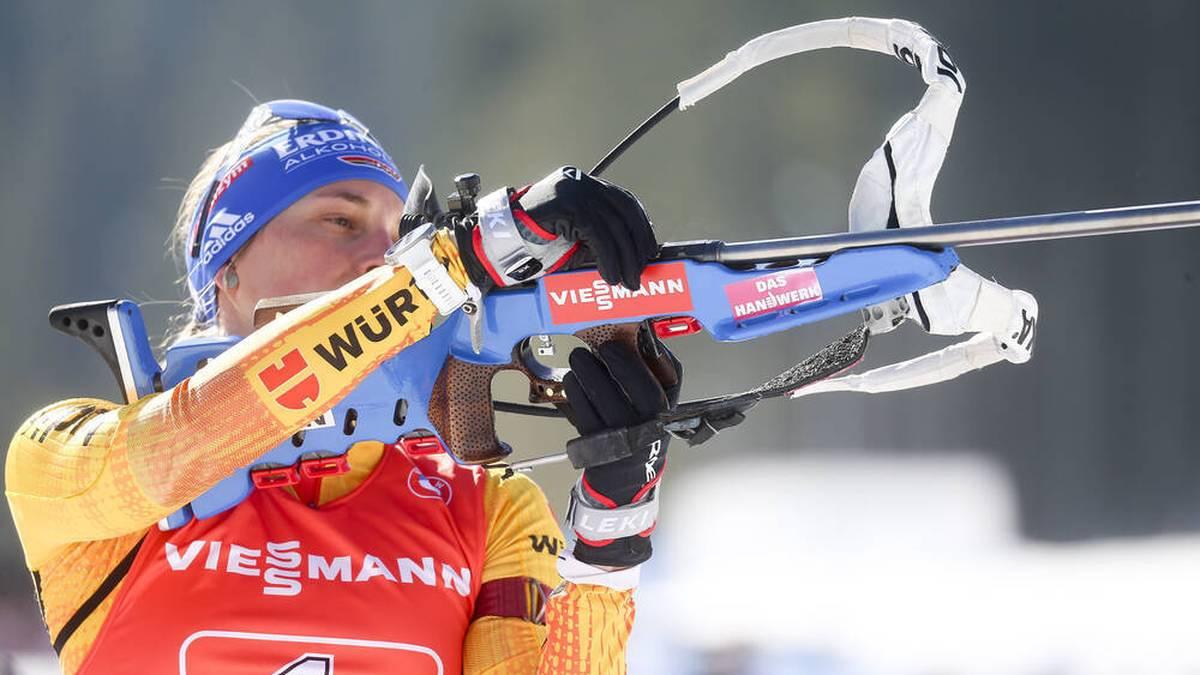 Deutschlands Biathlon-Frauen erlebten in der Staffel ein Desaster