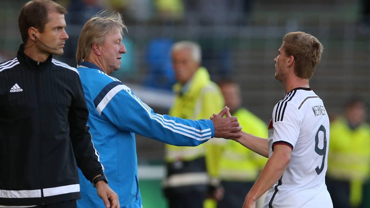 Horst Hrubesch und Timo Werner arbeiteten in der deutschen U21 zusammen