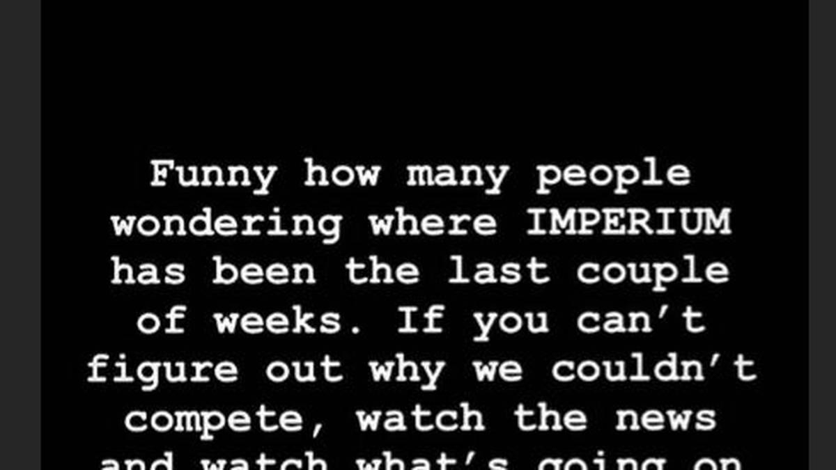 Marcel Barthel gibt einen Hinweis darauf, warum Imperium in den letzten Wochen nicht zu sehen war
