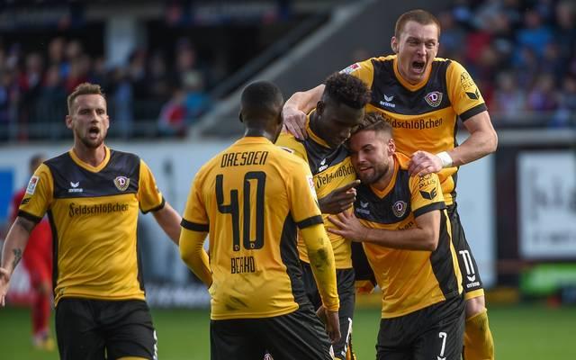 Dynamo Dresden hat einen wichtigen Auswärtssieg gelandet
