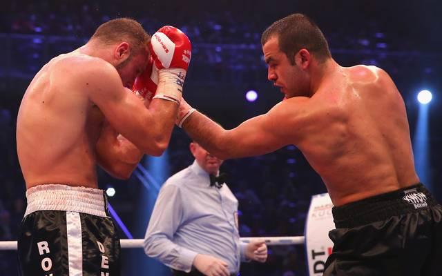 Shefat Isufi (r.) kann am Samstag Weltmeister im Supermittelgewicht werden