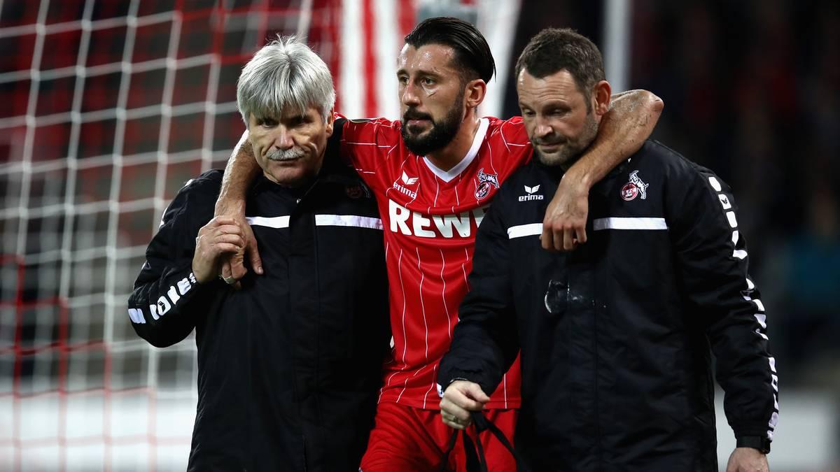 Dominic Maroh vom 1. FC Köln hat sich gegen Arsenal verletzt