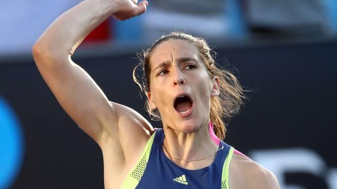 Andrea Petkovic steht bei den Australian Open in der zweiten Runde