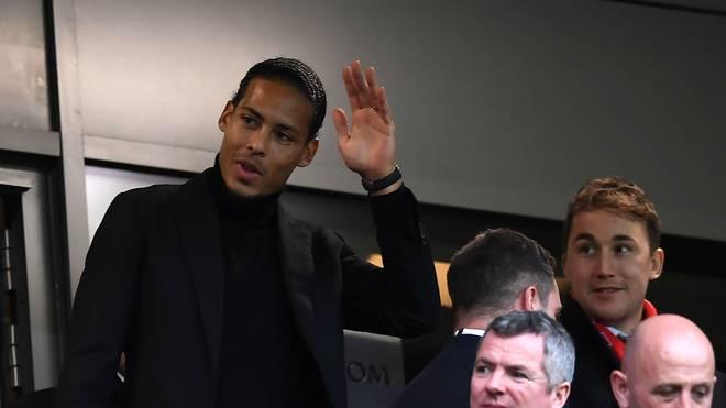 Das Spiel zwischen Liverpool und Leicester verfolgte Virgil van Dijk noch von der Tribüne aus