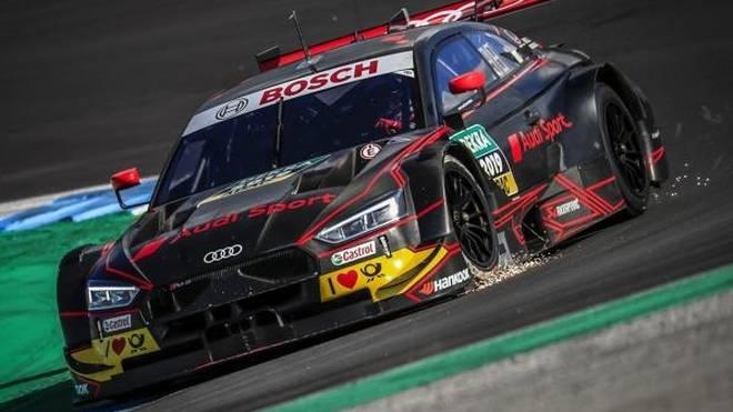 Rene Rast durfte den neuen DTM-Audi bereits testen