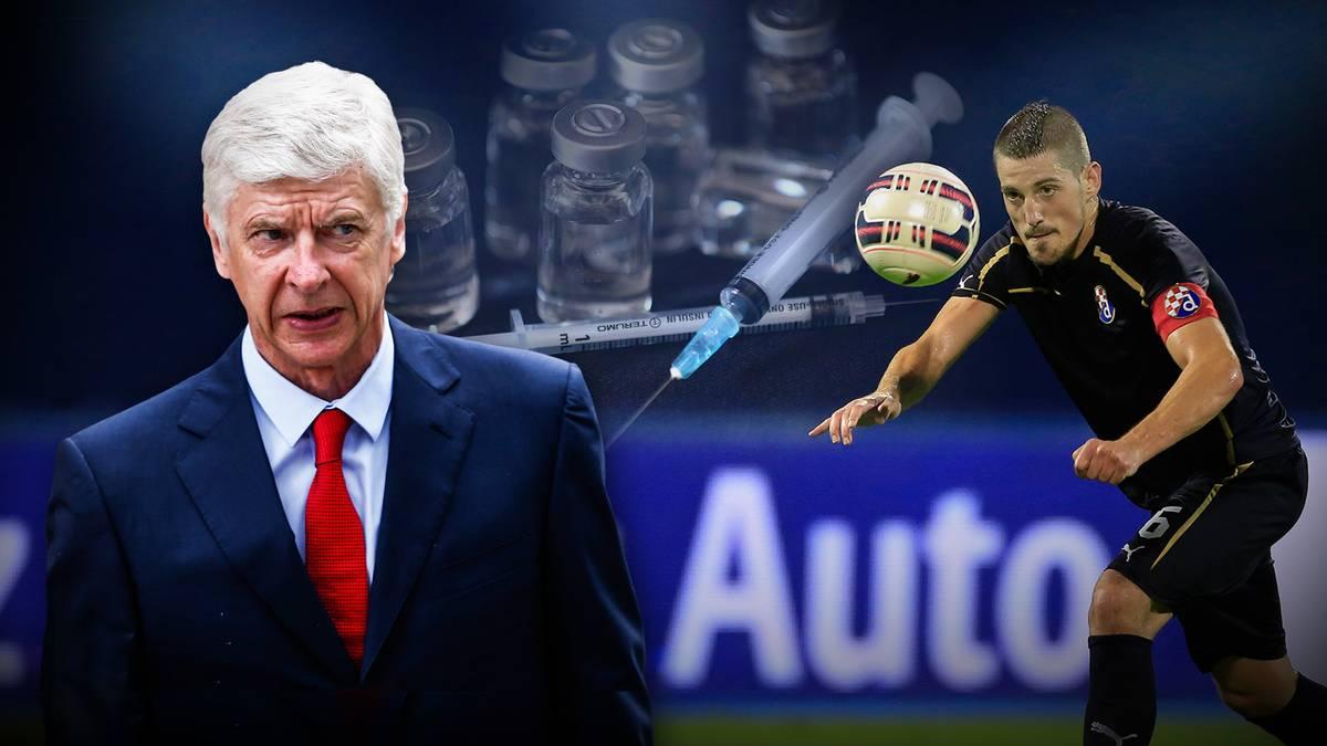 Arijan Ademi (r.) wurde bei einem Champions-League-Spiel gegen Arsene Wengers FC Arsenal positiv getestet