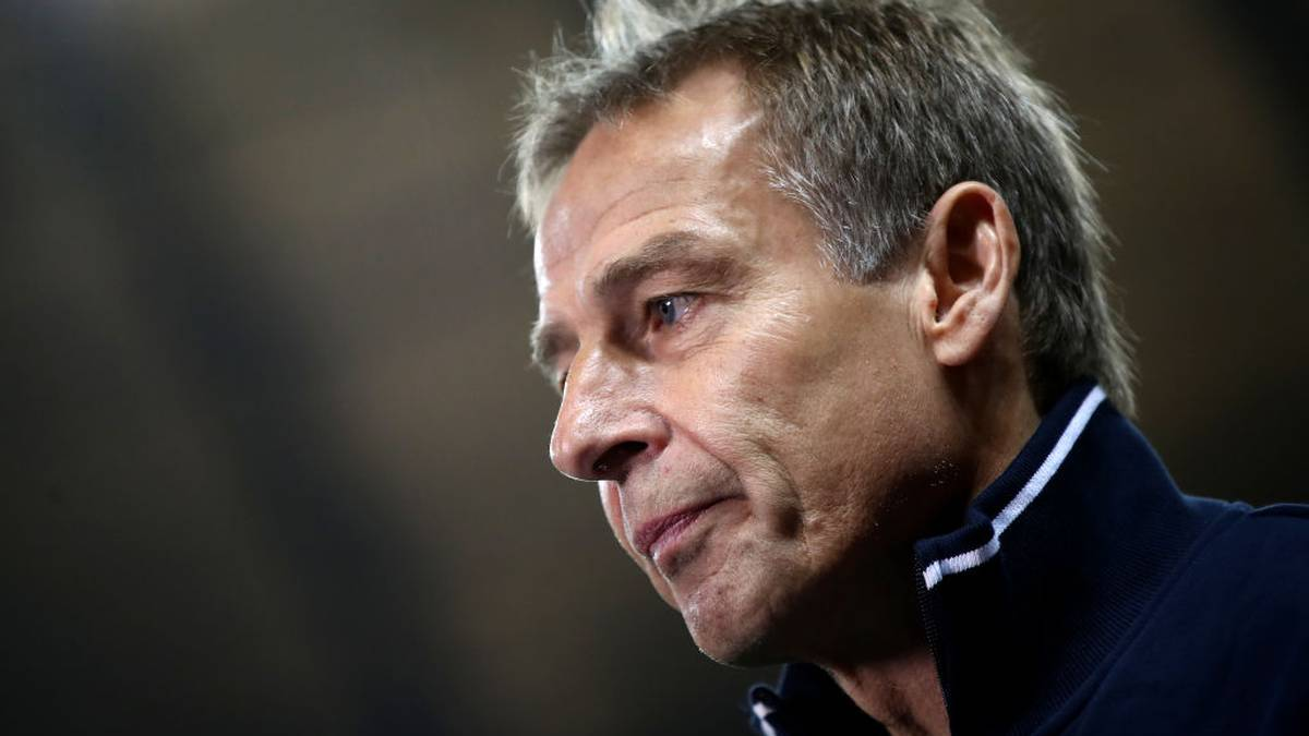BERLIN, GERMANY - JANUARY 31: Jurgen Klinsmann, Manager of Hertha Berlin looks on during the Bundesliga match between Hertha BSC and FC Schalke 04 at Olympiastadion on January 31, 2020 in Berlin, Germany. (Photo by Maja Hitij/Bongarts/Getty Images)