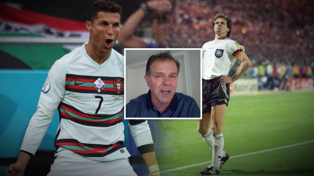 Hat Cristiano Ronaldo etwa Andreas Möller kopiert? Der Europameister spricht im SPORT1-Interview über den Jubel 1996, das DFB-Team und die Chancen auf den Titel.