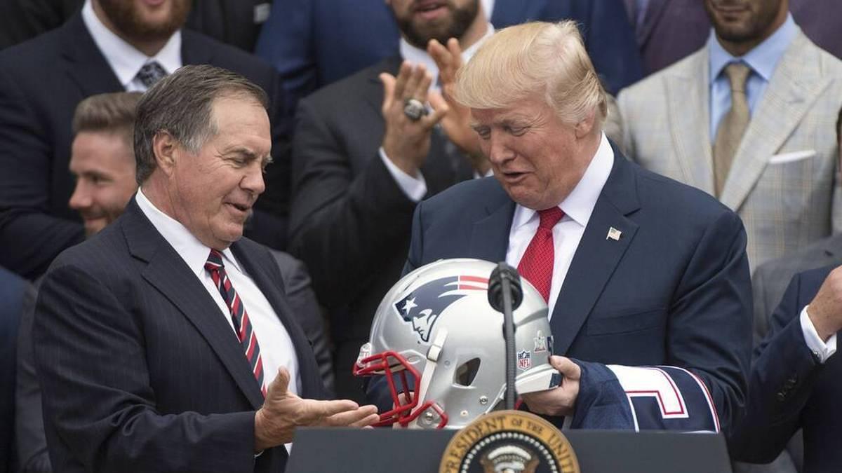NFL-Idol Bill Belichick wird auf die Auszeichnung mit der Freiheitsmedaille durch Donald Trump verzichten.