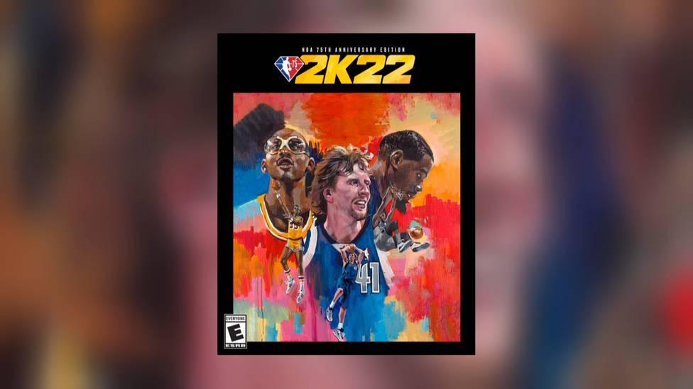 Deutschlands Basketball-Ikone Dirk Nowitzki ziert gemeinsam mit dem legendären Lakers-Center Kareem Abdul-Jabbar und Kevin Durant von den Brooklyn Nets das Cover der NBA 75th Anniversary Edition des Konsolenspiels NBA 2K22.