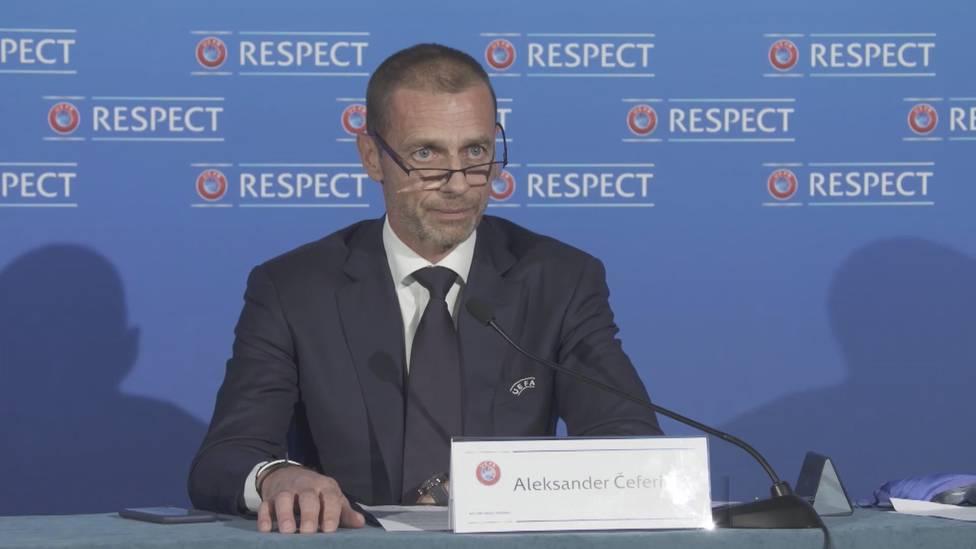 """""""Schandhaft"""", """"egoistisch"""", """"blödsinnig"""": Aleksander Ceferin hält nichts von der Einführung einer Super League. Der UEFA-Präsident findet deutliche Worte."""