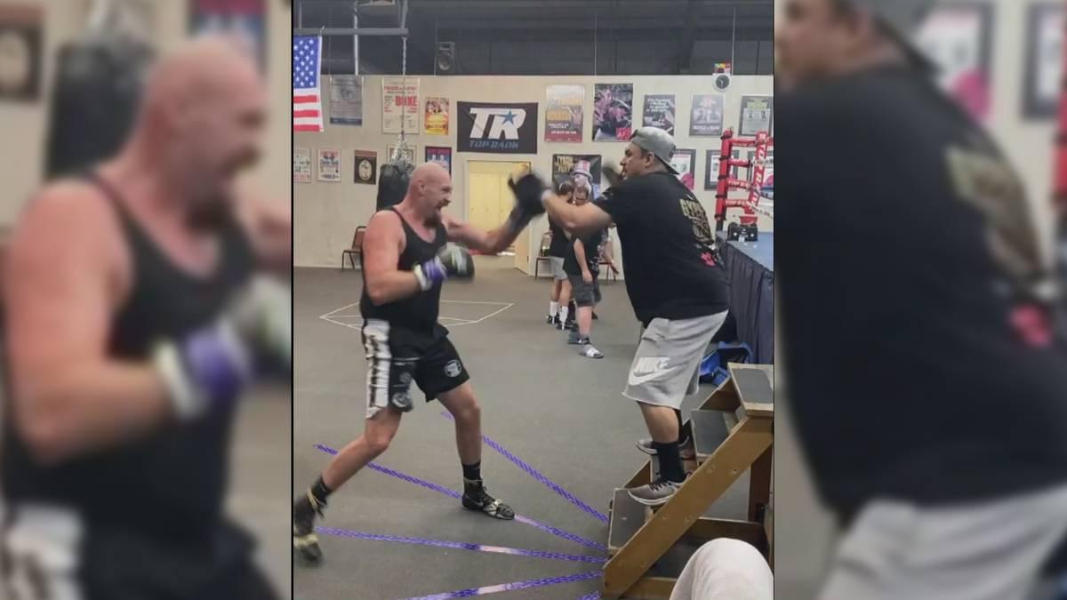 Tyson Fury macht gerade Las Vegas unsicher. Allerdings ist er nicht nur zum Spaß dort, sondern er hält sich fit für den Mega-Fight gegen Anthony Joshua.