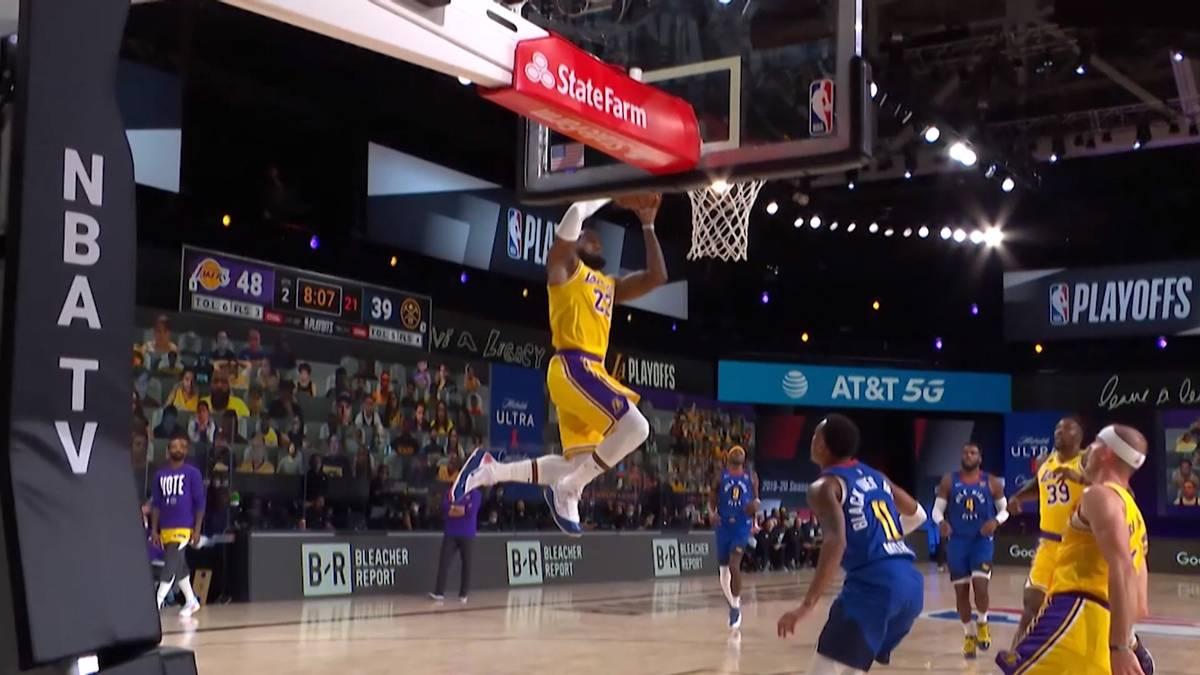 Die Los Angeles Lakers haben in Spiel Eins der Western Conference Finals die Denver Nuggets klar mit 126:114 besiegt. Mit 37 Punkten und 10 Boards war Anthony Davis bester Scorer und Rebounder auf dem Court.