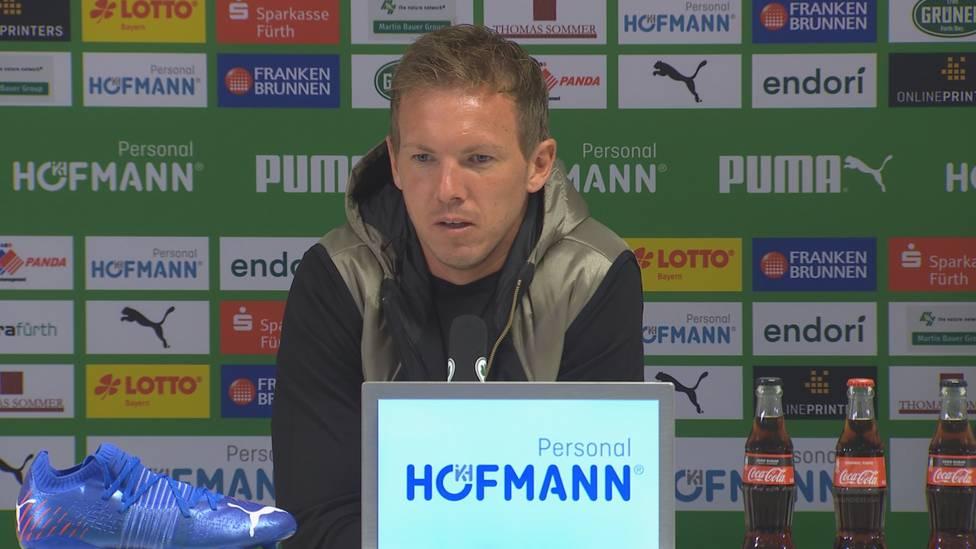 Unter der Woche hat ein geleakter Chat-Verlauf von Niklas Süle für Wirbel gesorgt. Julian Nagelsmann bezieht Stellung.