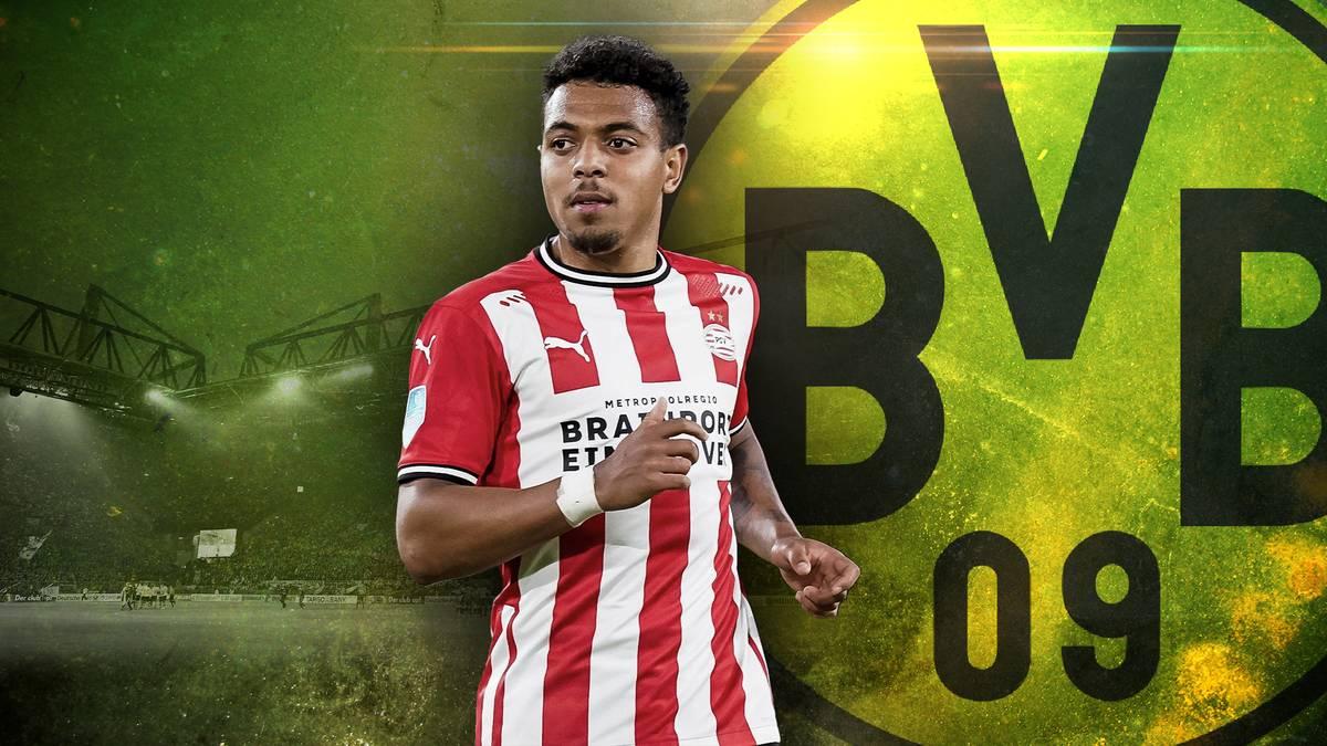 Donyell Malen soll der Erbe von Jadon Sancho beim BVB werden. Und das aus gutem Grund: Denn der Niederländer legte in der Eredivisie beeindruckende Zahlen auf.