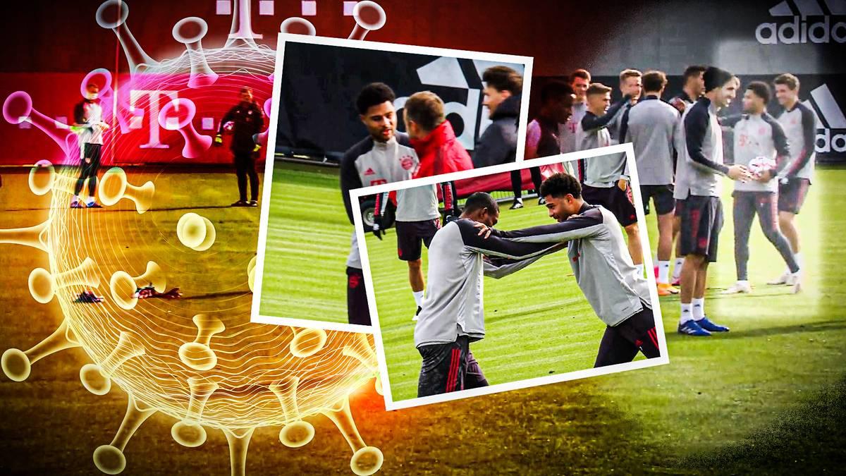 Nachdem Serge Gnabry gestern positiv auf Covid-19 getestet wurde, herrschte Corona-Alarm beim FC Bayern. So lief der Tag beim Rekordmeister.