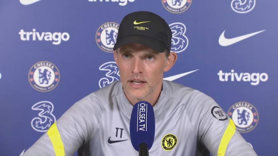 Chelsea-Trainer Thomas Tuchel spricht über den Transfer von Romelu Lukaku. Nach einer Frage von einem Journalisten erzählt der Deutsche, welche anderen Spieler auf seiner Liste standen.
