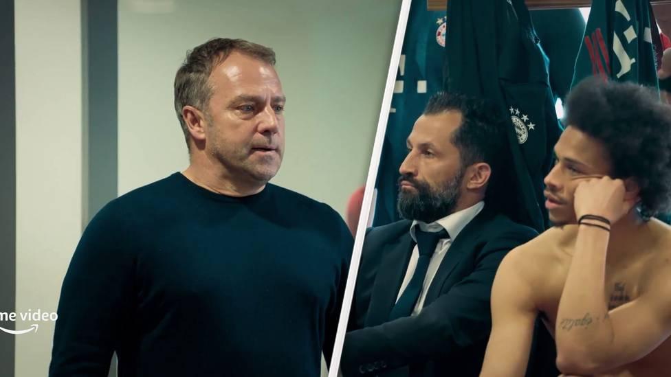Kimmich schleudert in der Kabine sein Trikot weg, Flick verkündet der Mannschaft seinen Abgang. Bei Amazon Prime Video wird es eine Doku zum FC Bayern geben und die Bilder im Trailer sind emotional.