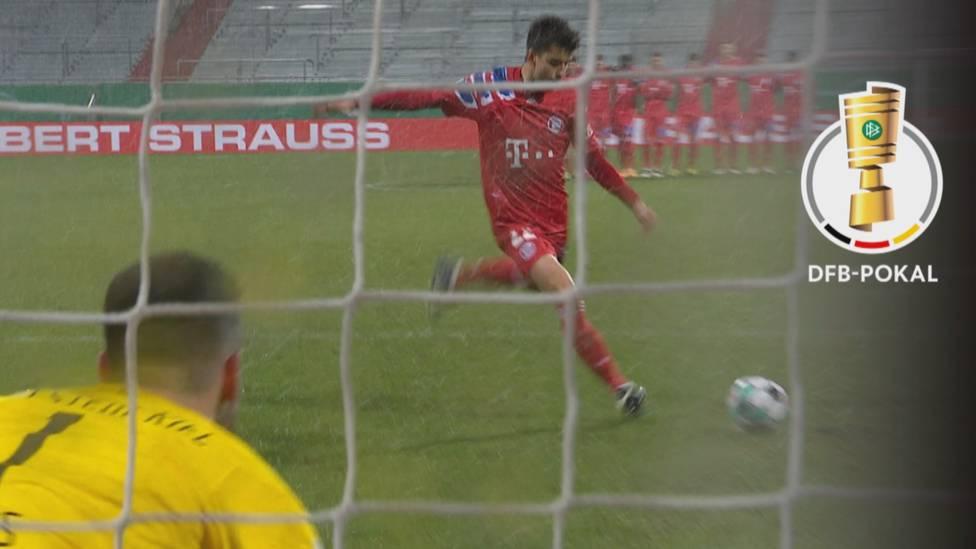 Holstein Kiel steht sensationell im Achtelfinale des DFB-Pokals. Beim Sieg über Titelverteidiger Bayern München wird Torwart Ioannis Gelios zum Helden.