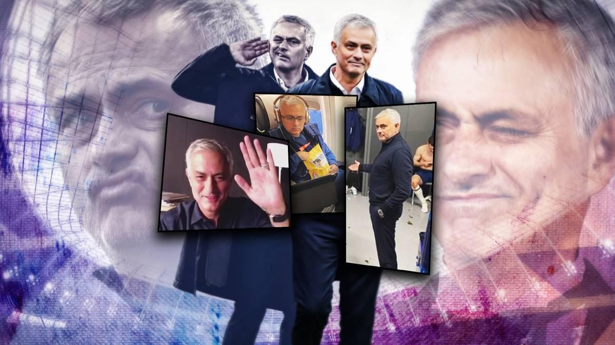 Vom erfolgsbesessene Trainer zum sympathischen Social-Media-Star? José Mourinho überrascht seit einiger Zeit mit humorvollen Posts bei Instagram.