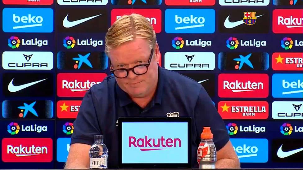 Der FC Barcelona befindet sich sowohl sportlich als auch finanziell in einer schwierigen Lage. Ronald Koeman trug auf einer skurrilen Pressekonferenz ein Statement vor und ließ dabei keine Fragen von Journalisten.