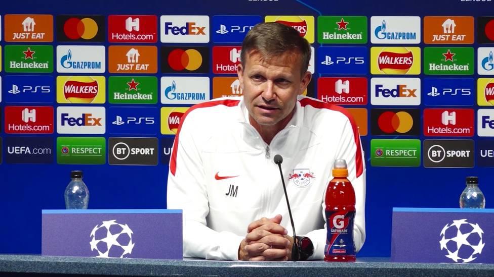 """RB Leipzig steht bei seinem Champions-League--Auftakt in dieser Saison vor einer Mammutaufgabe. RB-Trainer Jesse Marsch erwartet mit Manchester City """"die beste Mannschaft der Welt"""""""