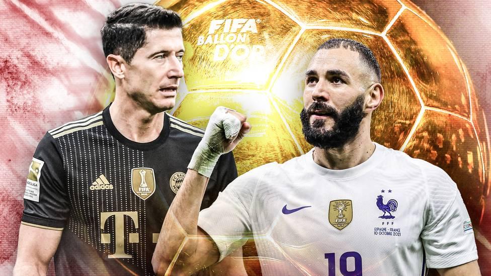 Am 29. November wird der Ballon d'Or verliehen. Nun wurde die Shortlist für den Titel bekannt gegeben. Als zwei heiß gehandelte Kandidaten gelten Robert Lewandowski und Karim Benzema.